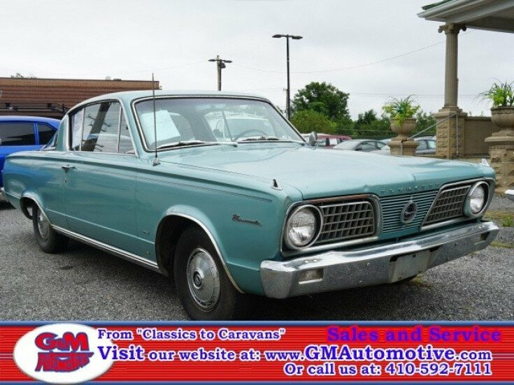 1966 Plymouth Barracuda For Sale Near Kingsville Maryland 21087