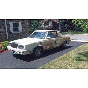 1982 Chrysler LeBaron Convertible for sale 101587005