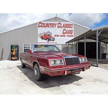 1984 Chrysler LeBaron Convertible for sale 101178109