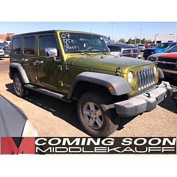 2007 Jeep Wrangler 4WD Unlimited X for sale 101184982