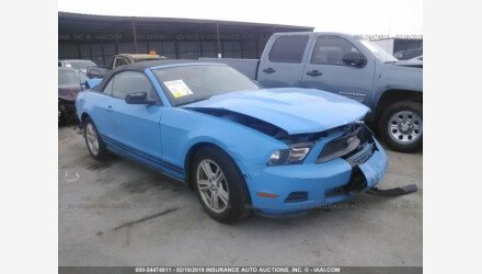 2012 Ford Mustang Convertible for sale 101110517