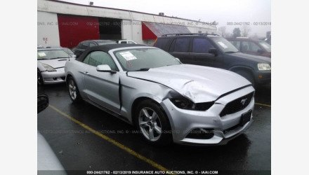 2015 Ford Mustang Convertible for sale 101110585