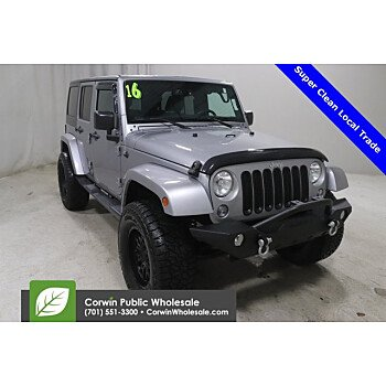 2016 Jeep Wrangler for sale 101422007