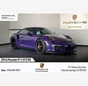 2016 Porsche 911 GT3 RS Coupe for sale 101303503