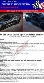 2017 Chevrolet Corvette Grand Sport Coupe for sale 101256066