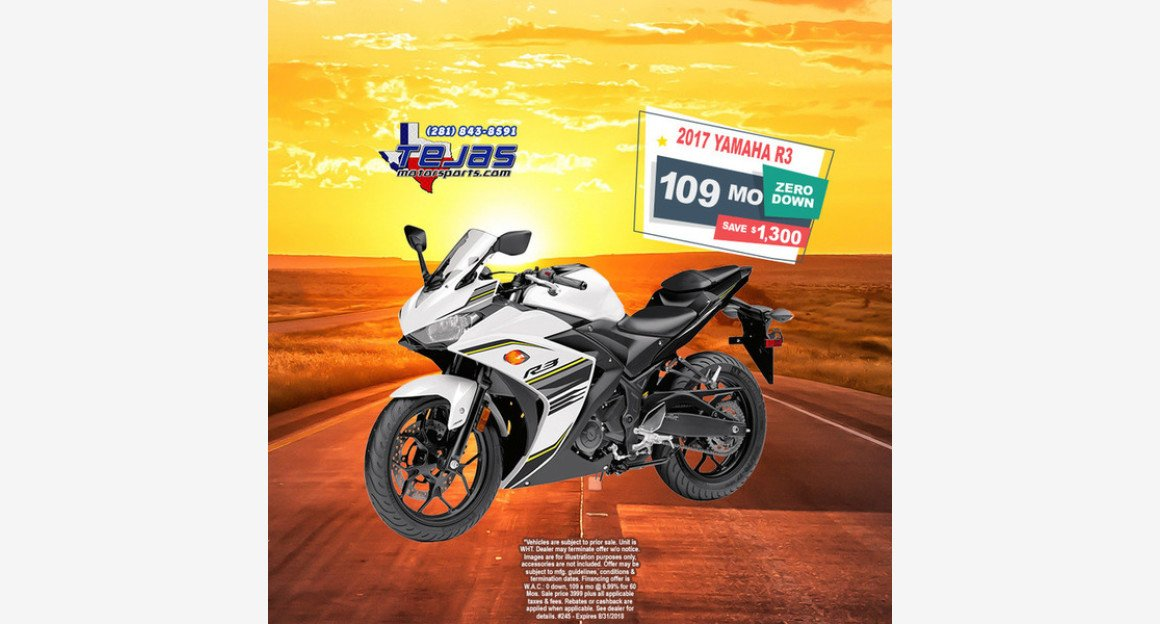 2017 Yamaha YZF-R3 for sale 200584515