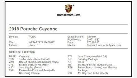 2018 Porsche Cayenne for sale 101331585