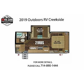 2019 Outdoors RV Creekside for sale 300160369