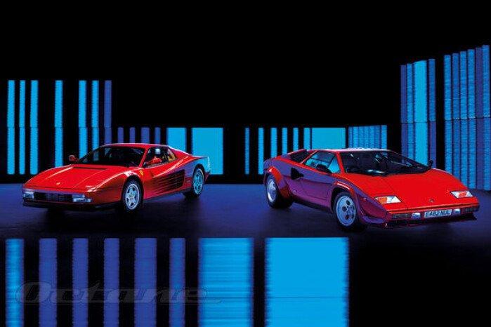 Lamborghini Countach V Ferrari Testarossa Classics On Autotrader