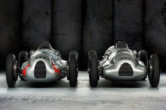 1938-39 Auto Union Type D Race Cars