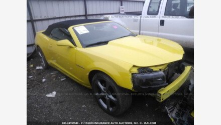 2014 Chevrolet Camaro LT Convertible for sale 101175522